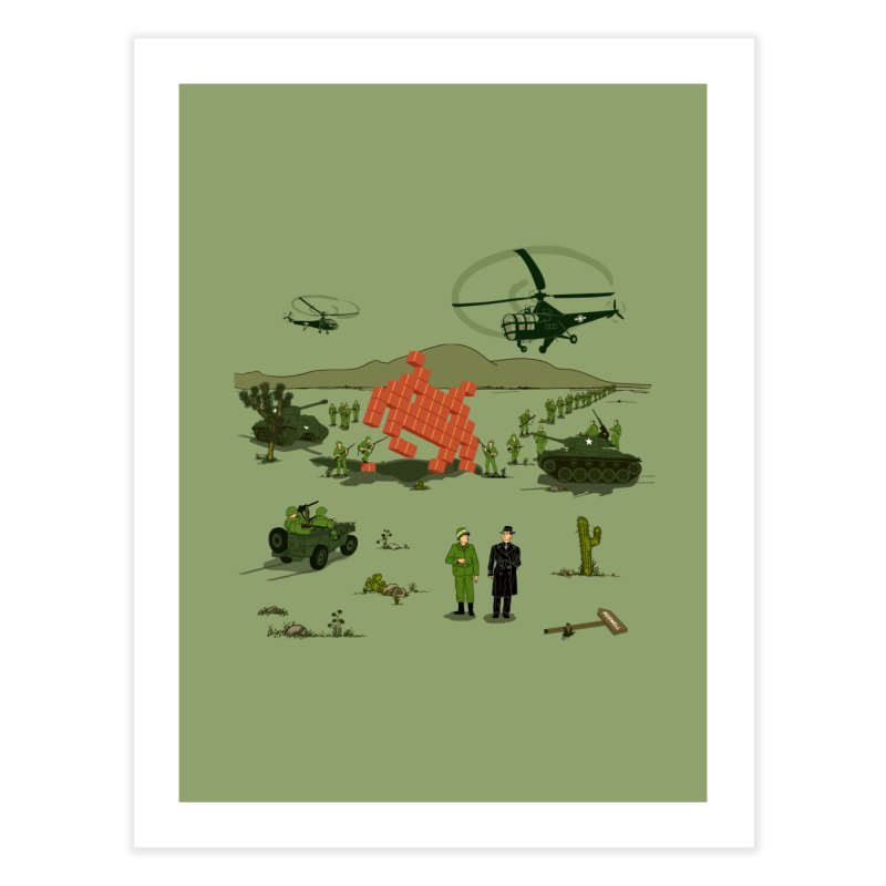 Roswell UFO incident. Home Fine Art Print by UMI's Artist Shop