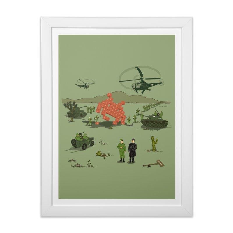 Roswell UFO incident. Home Framed Fine Art Print by UMI's Artist Shop