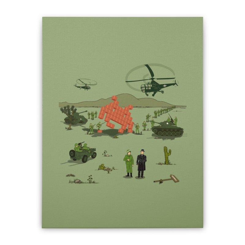 Roswell UFO incident. Home Stretched Canvas by UMI's Artist Shop