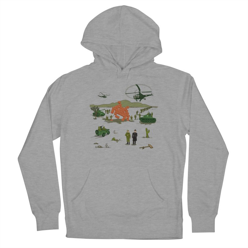 Roswell UFO incident. Men's French Terry Pullover Hoody by UMI's Artist Shop