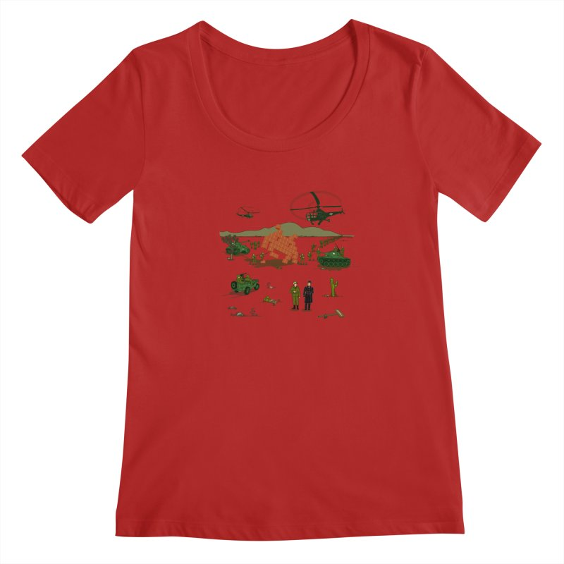 Roswell UFO incident. Women's Scoopneck by UMI's Artist Shop