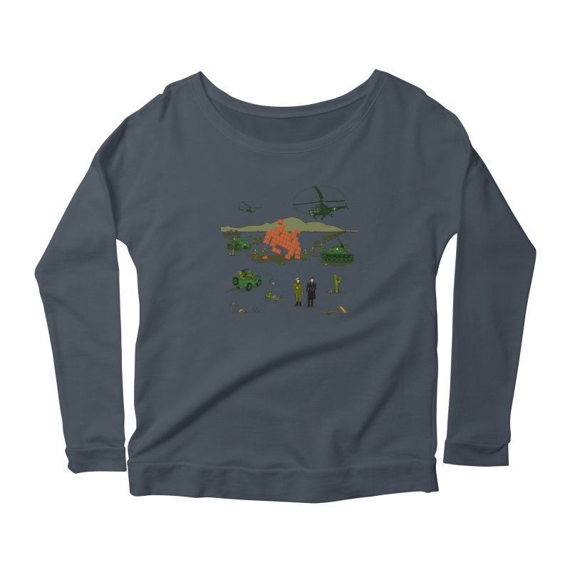 Roswell UFO incident. Women's Longsleeve Scoopneck  by UMI's Artist Shop