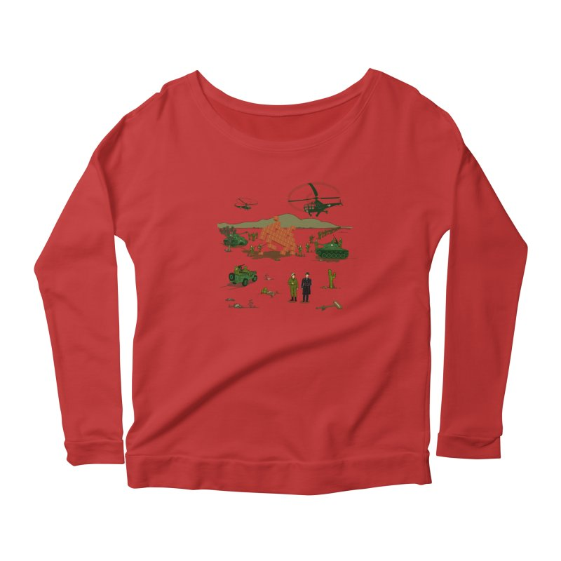 Roswell UFO incident. Women's Scoop Neck Longsleeve T-Shirt by UMI's Artist Shop