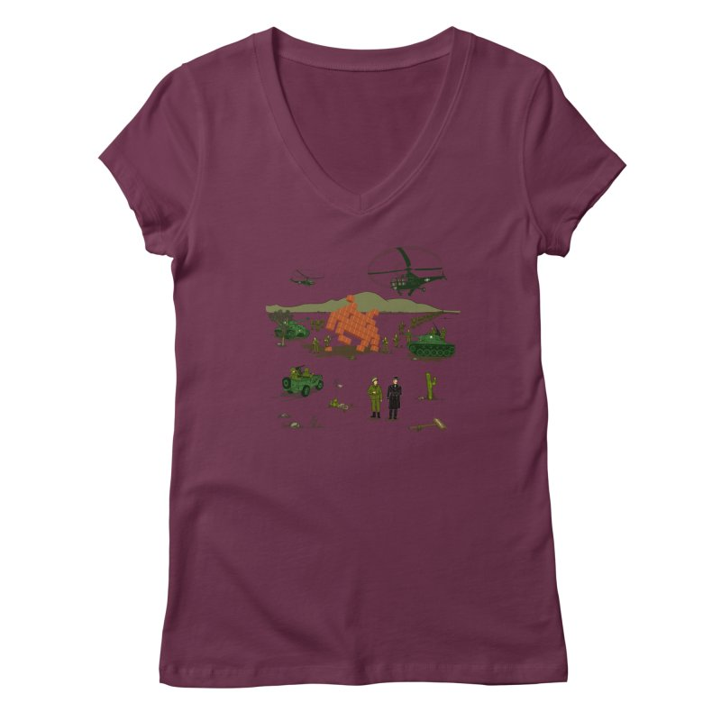 Roswell UFO incident. Women's V-Neck by UMI's Artist Shop