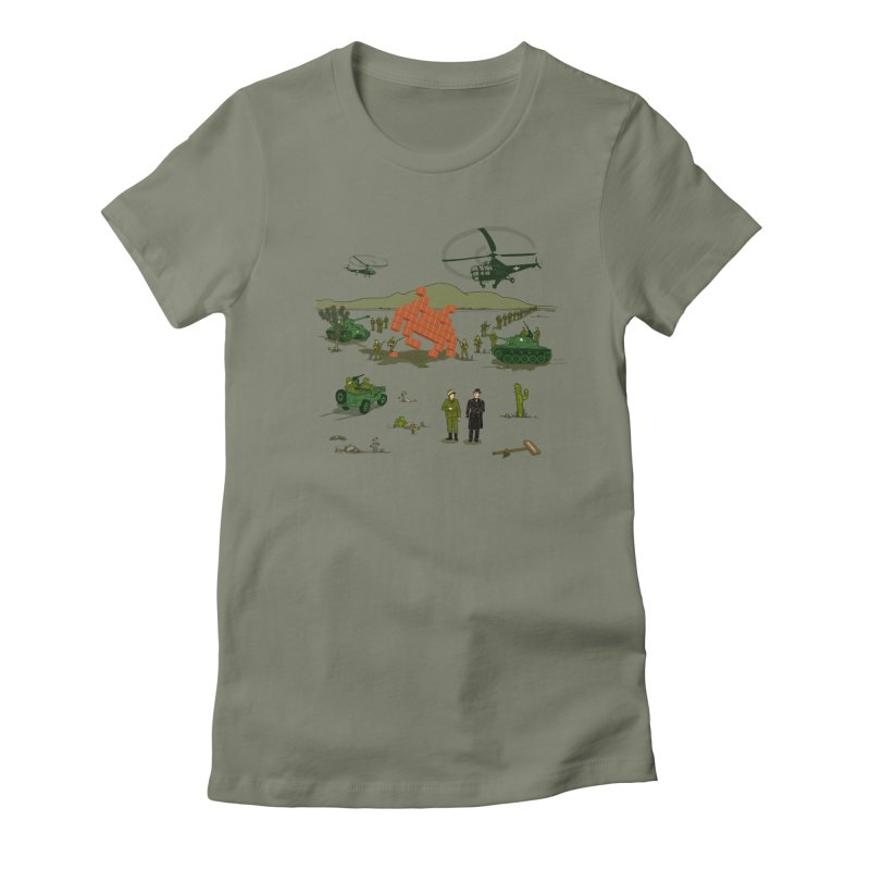Roswell UFO incident. Women's Fitted T-Shirt by UMI's Artist Shop