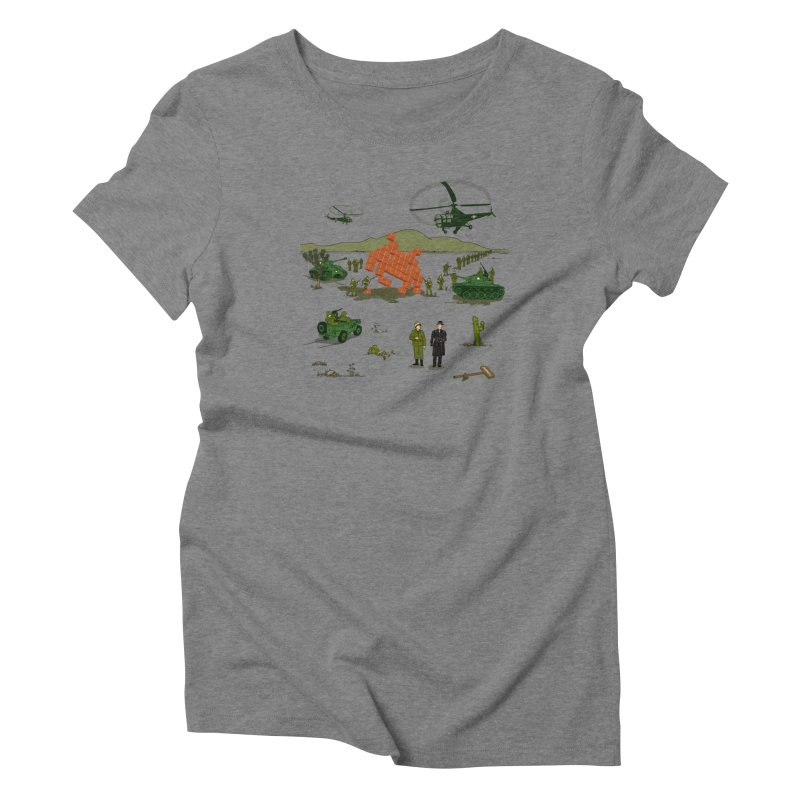 Roswell UFO incident. Women's Triblend T-Shirt by UMI's Artist Shop