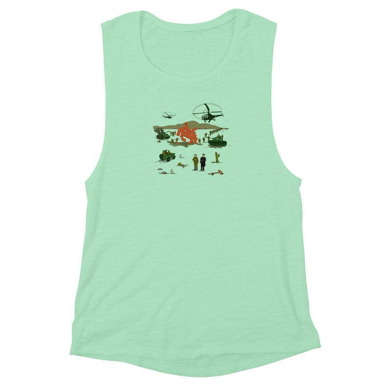 Roswell UFO incident. Women's Muscle Tank by UMI's Artist Shop