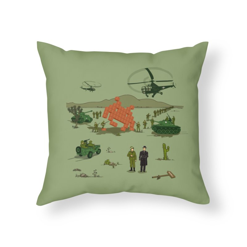Roswell UFO incident. Home Throw Pillow by UMI's Artist Shop