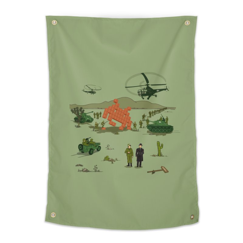 Roswell UFO incident. Home Tapestry by UMI's Artist Shop