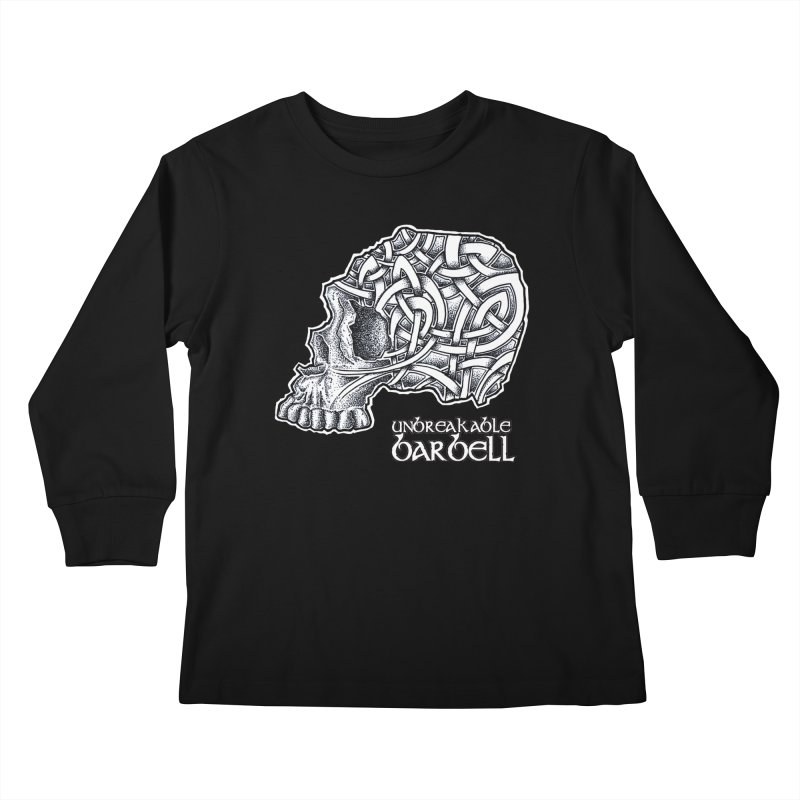 Celtic Skull Kids Longsleeve T-Shirt by Unbreakable Barbell