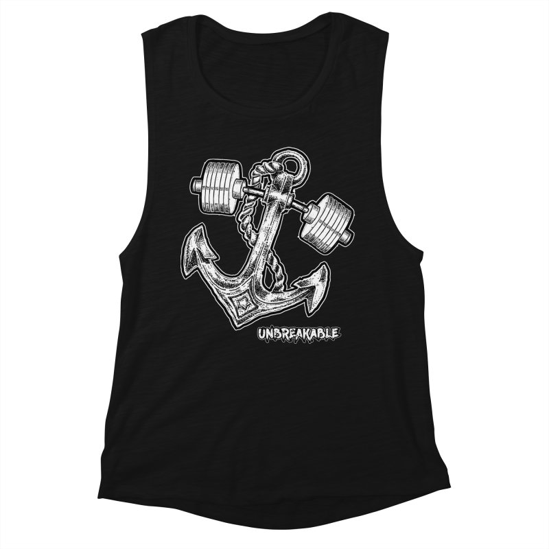 Anchor Women's Muscle Tank by Unbreakable Barbell