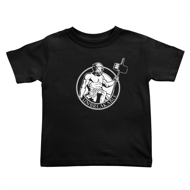 Gains God Kids Toddler T-Shirt by Unbreakable Barbell