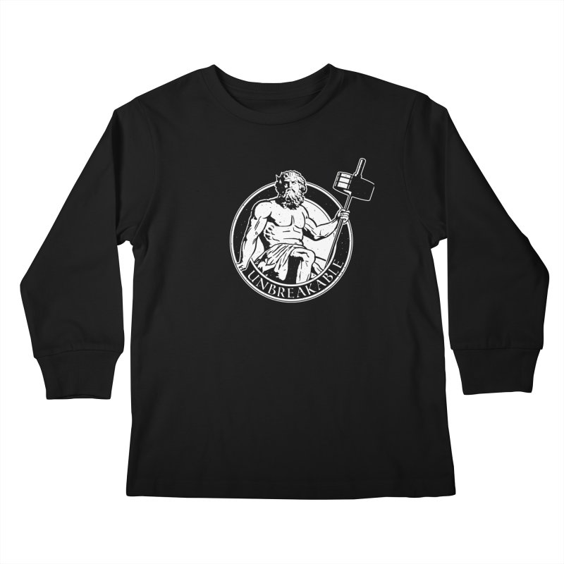 Gains God Kids Longsleeve T-Shirt by Unbreakable Barbell