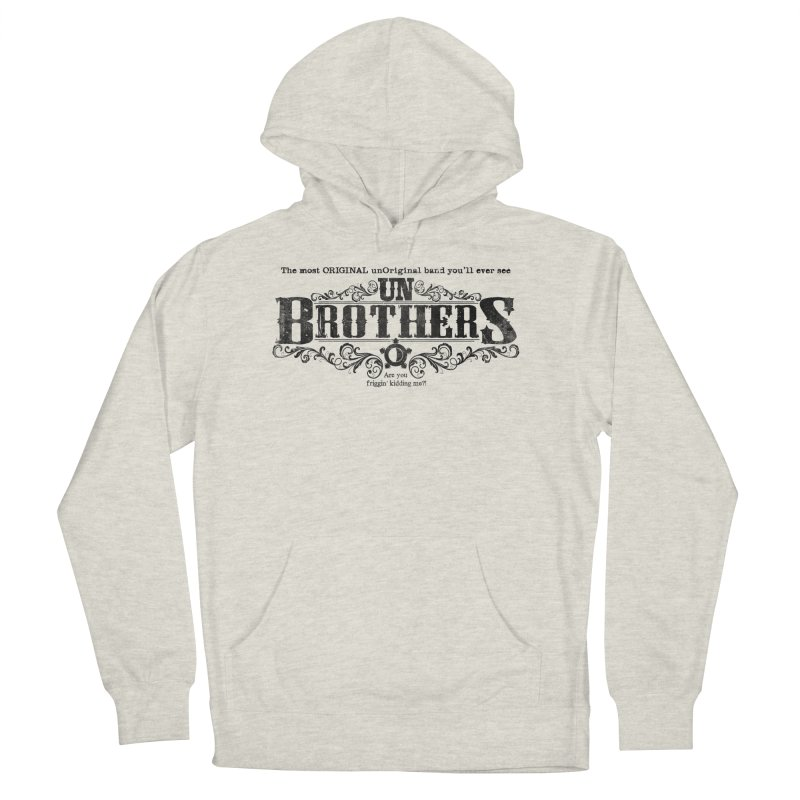 unBrothers Black Logo Women's Pullover Hoody by unStuff by unBrothers