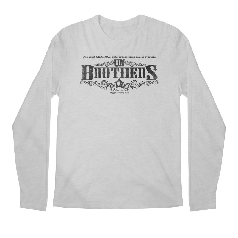 unBrothers Black Logo Men's Regular Longsleeve T-Shirt by unStuff by unBrothers