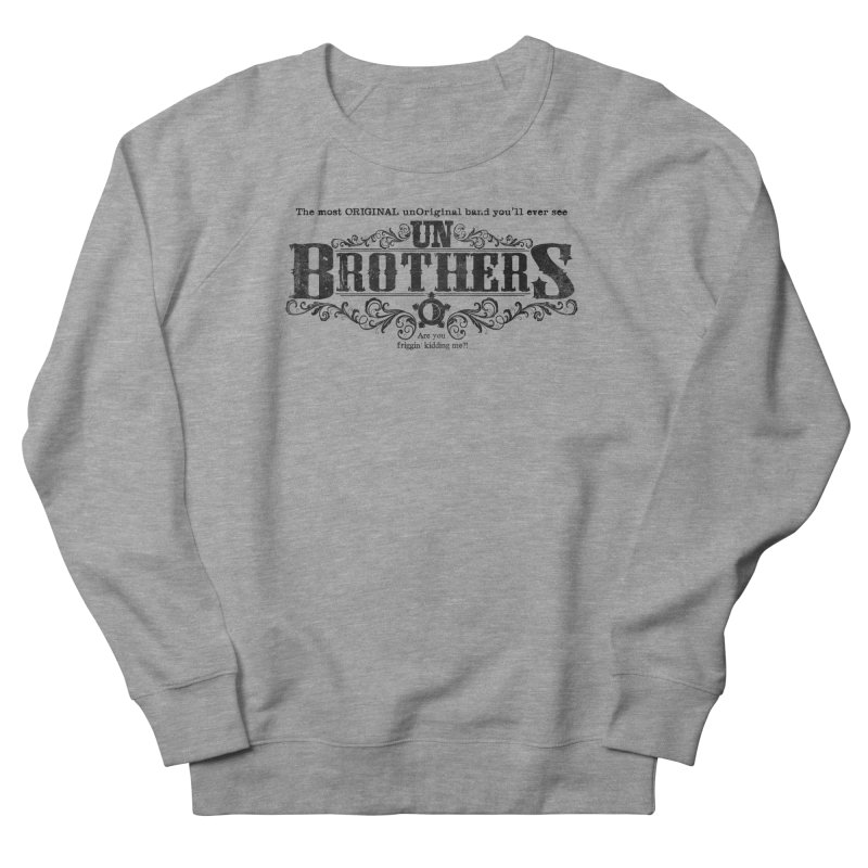 unBrothers Black Logo Men's French Terry Sweatshirt by unStuff by unBrothers