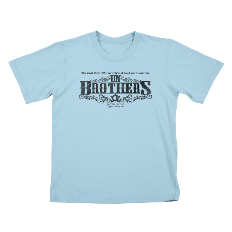 unBrothers Black Logo Kids T-Shirt by unStuff by unBrothers