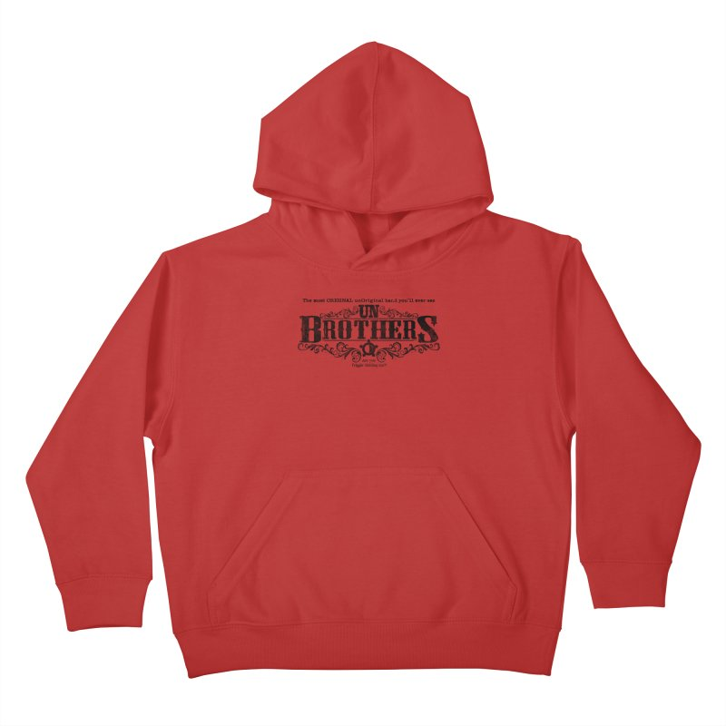 unBrothers Black Logo Kids Pullover Hoody by unStuff by unBrothers