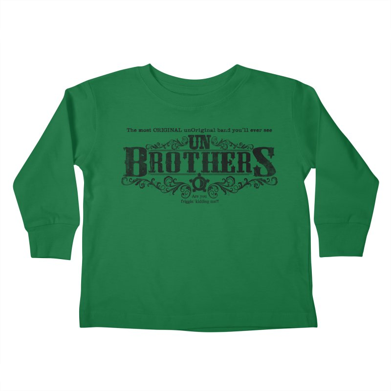 unBrothers Black Logo Kids Toddler Longsleeve T-Shirt by unStuff by unBrothers