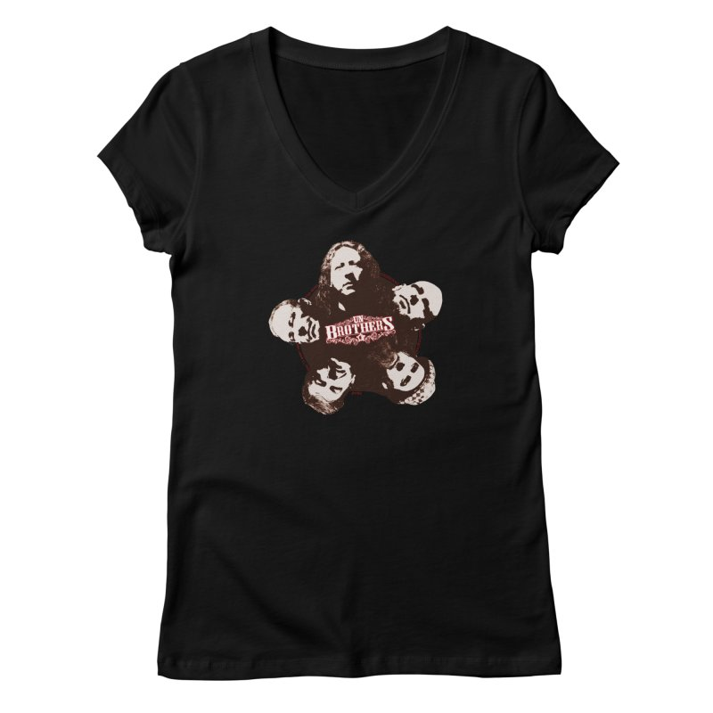 unBrothers Heads Women's V-Neck by unStuff by unBrothers