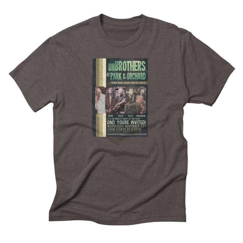 unBrothers Park & Orchard Concert Shirt in Men's Triblend T-Shirt Tri-Coffee by unStuff by unBrothers