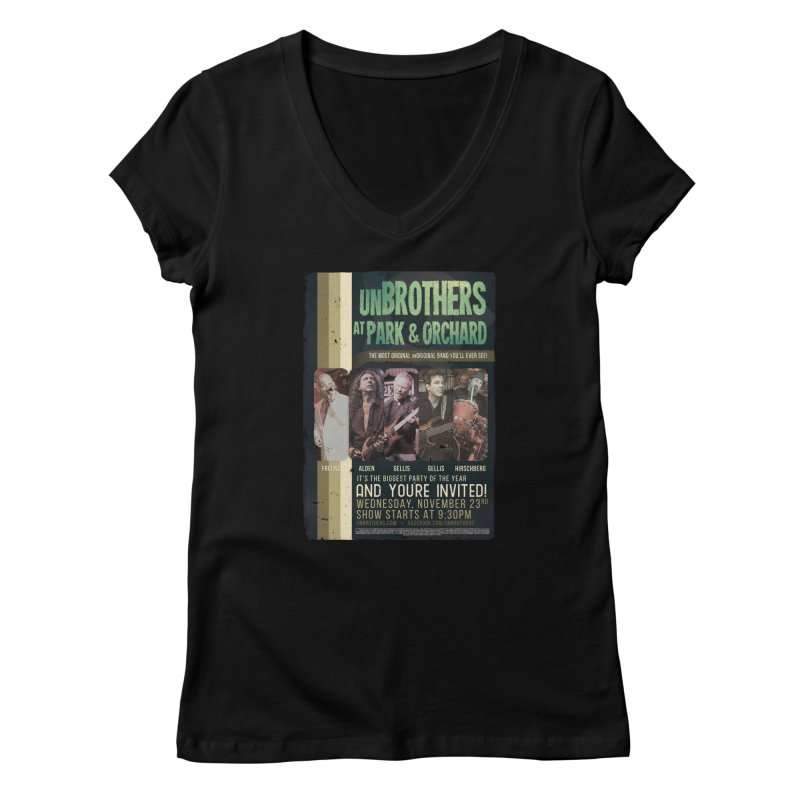unBrothers Park & Orchard Concert Shirt Women's V-Neck by unStuff by unBrothers