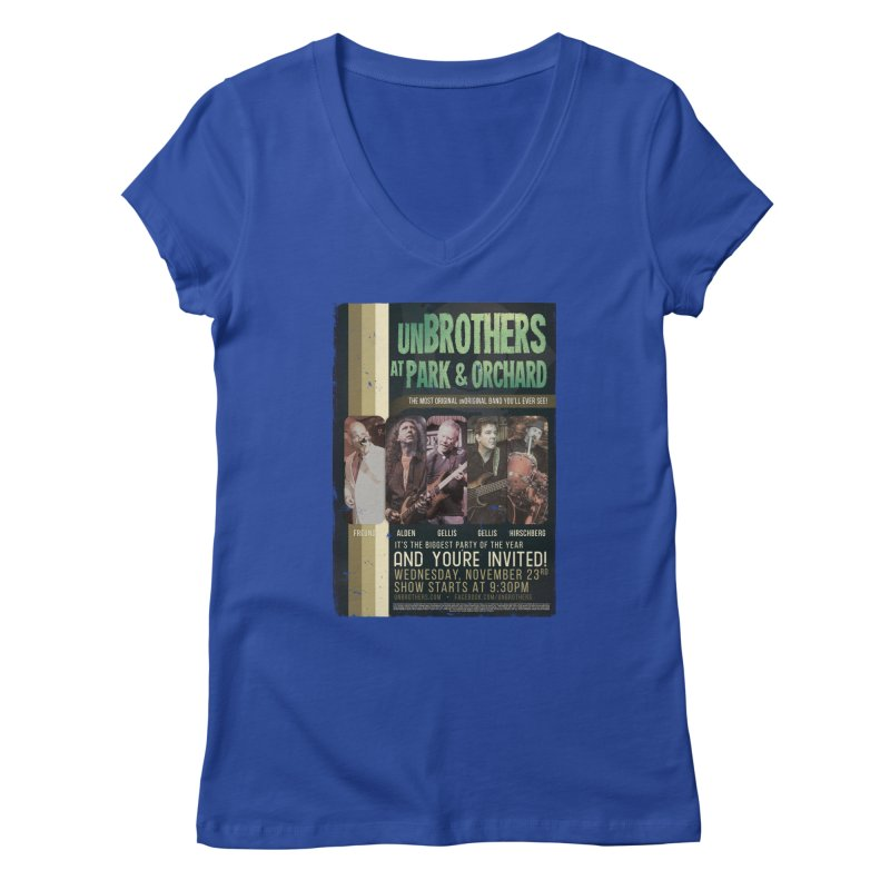 unBrothers Park & Orchard Concert Shirt Women's Regular V-Neck by unStuff by unBrothers
