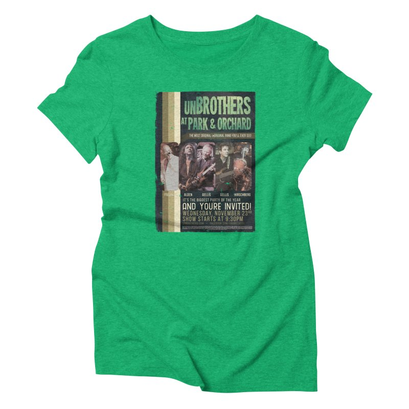 unBrothers Park & Orchard Concert Shirt Women's Triblend T-Shirt by unStuff by unBrothers