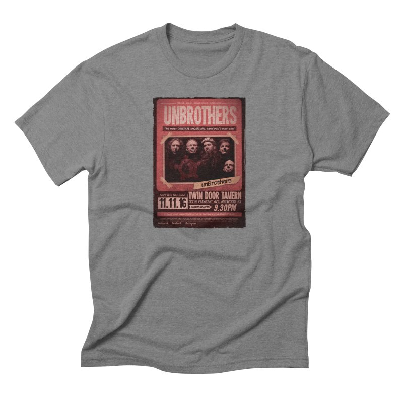 unBrothers Twin Door Tavern Concert Shirt Men's Triblend T-Shirt by unStuff by unBrothers