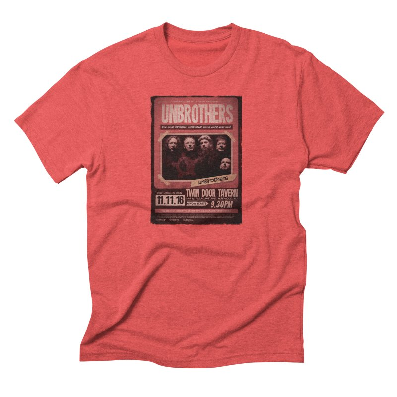 unBrothers Twin Door Tavern Concert Shirt in Men's Triblend T-Shirt Chili Red by unStuff by unBrothers
