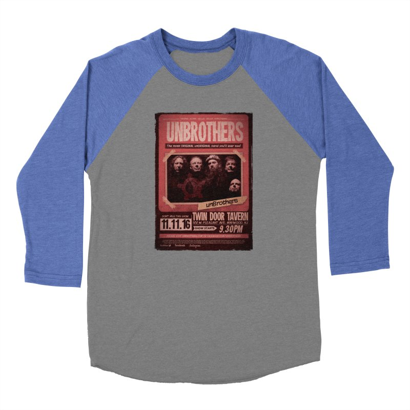 unBrothers Twin Door Tavern Concert Shirt Women's Baseball Triblend T-Shirt by unStuff by unBrothers
