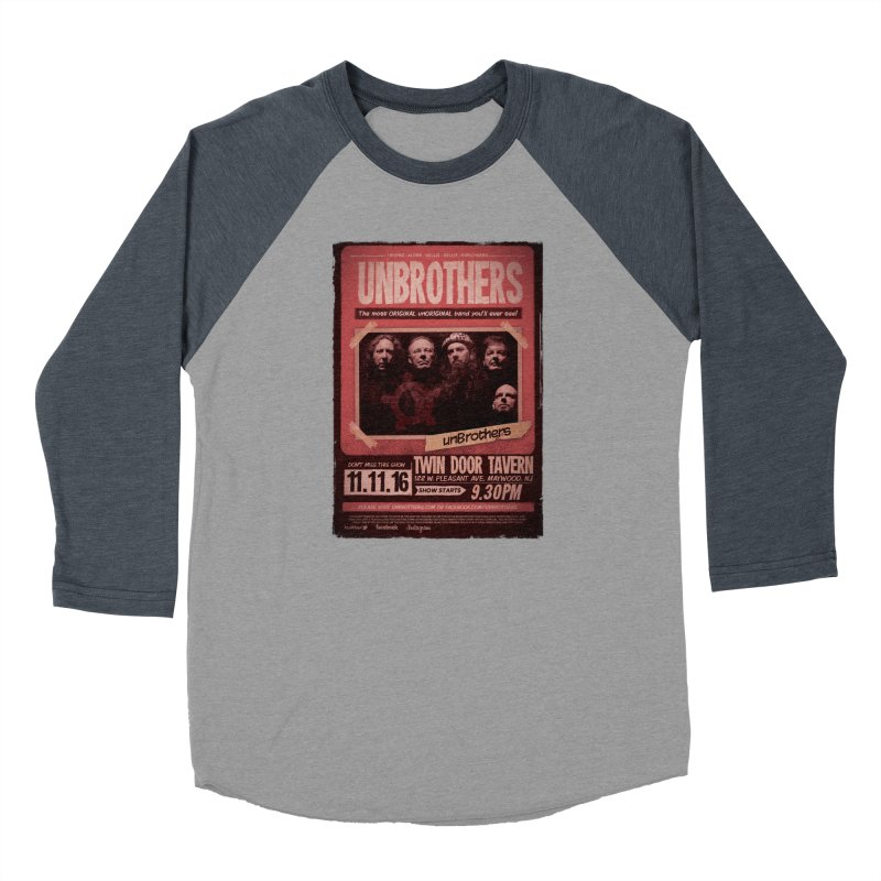 unBrothers Twin Door Tavern Concert Shirt Men's Baseball Triblend Longsleeve T-Shirt by unStuff by unBrothers