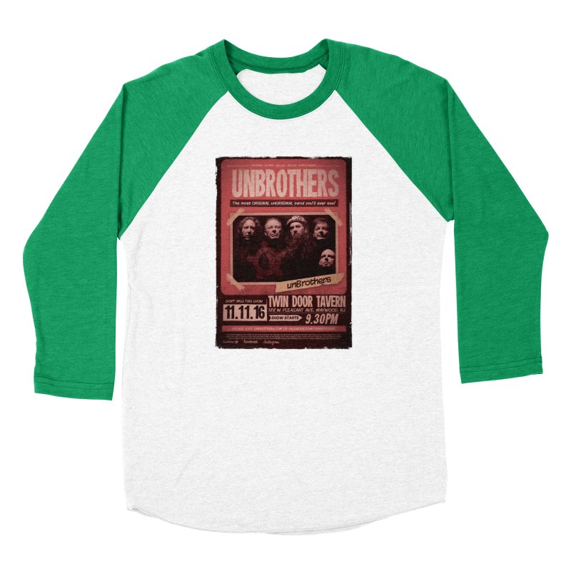 unBrothers Twin Door Tavern Concert Shirt Men's Baseball Triblend T-Shirt by unStuff by unBrothers