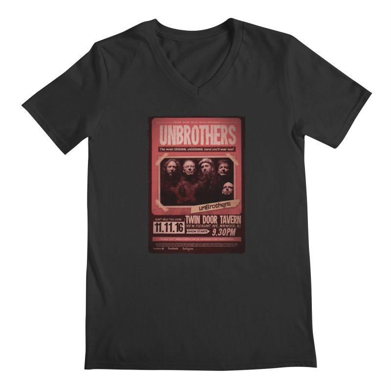 unBrothers Twin Door Tavern Concert Shirt Men's Regular V-Neck by unStuff by unBrothers