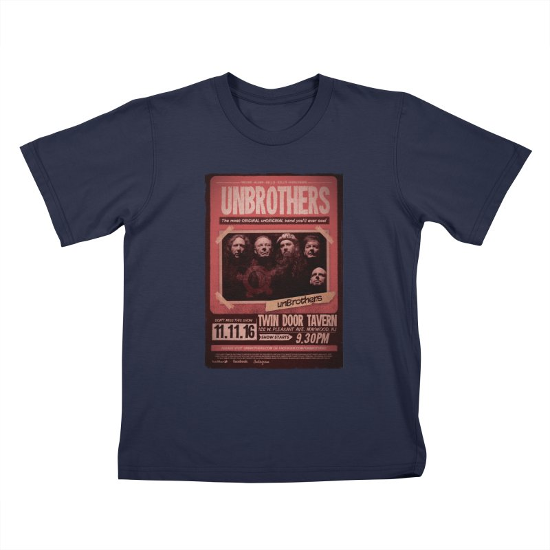 unBrothers Twin Door Tavern Concert Shirt Kids T-Shirt by unStuff by unBrothers