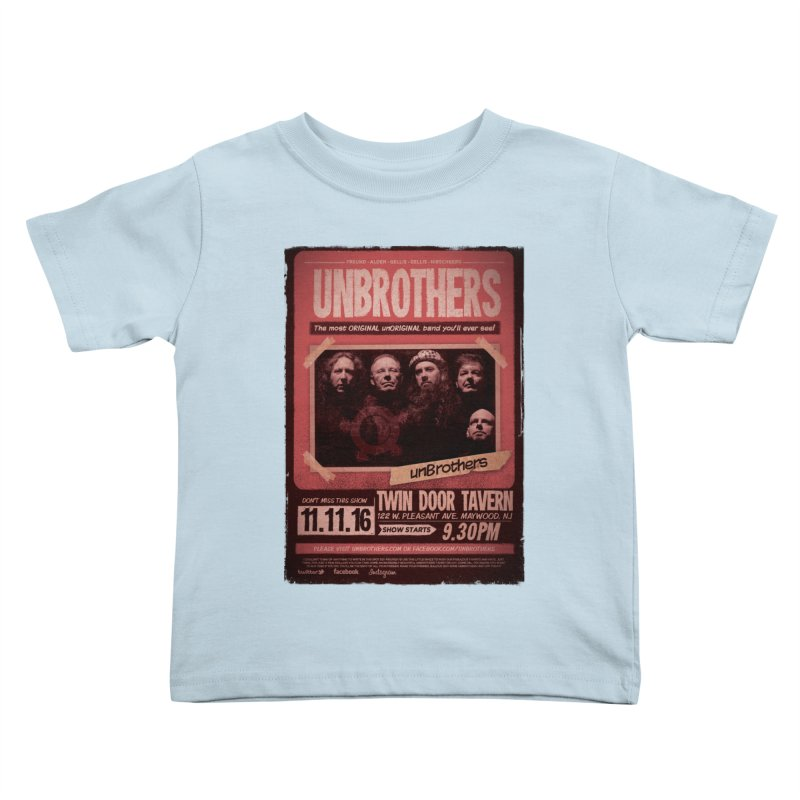 unBrothers Twin Door Tavern Concert Shirt Kids Toddler T-Shirt by unStuff by unBrothers