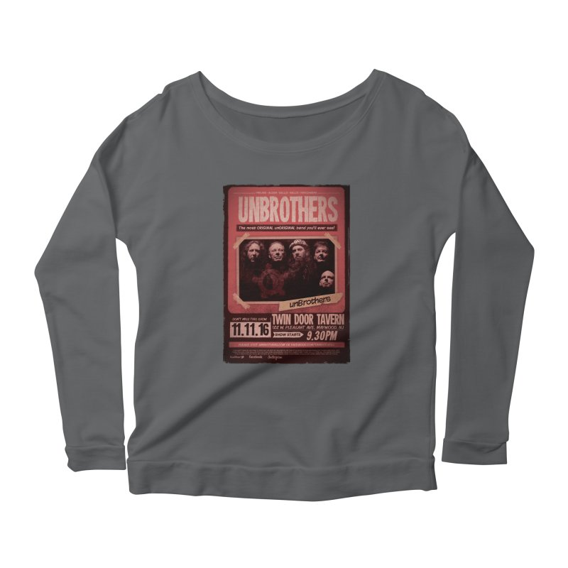 unBrothers Twin Door Tavern Concert Shirt Women's Scoop Neck Longsleeve T-Shirt by unStuff by unBrothers