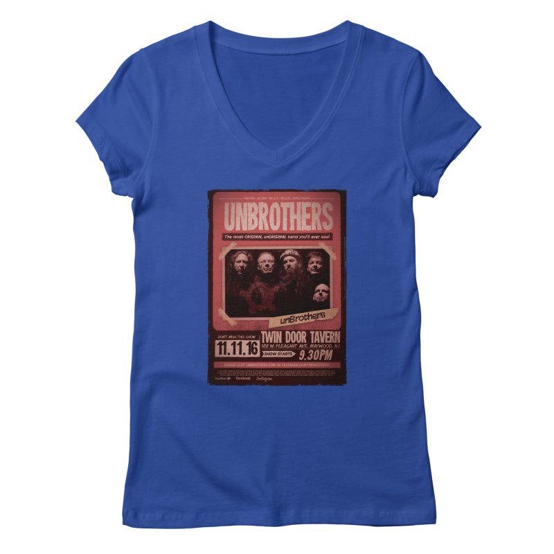 unBrothers Twin Door Tavern Concert Shirt Women's V-Neck by unStuff by unBrothers