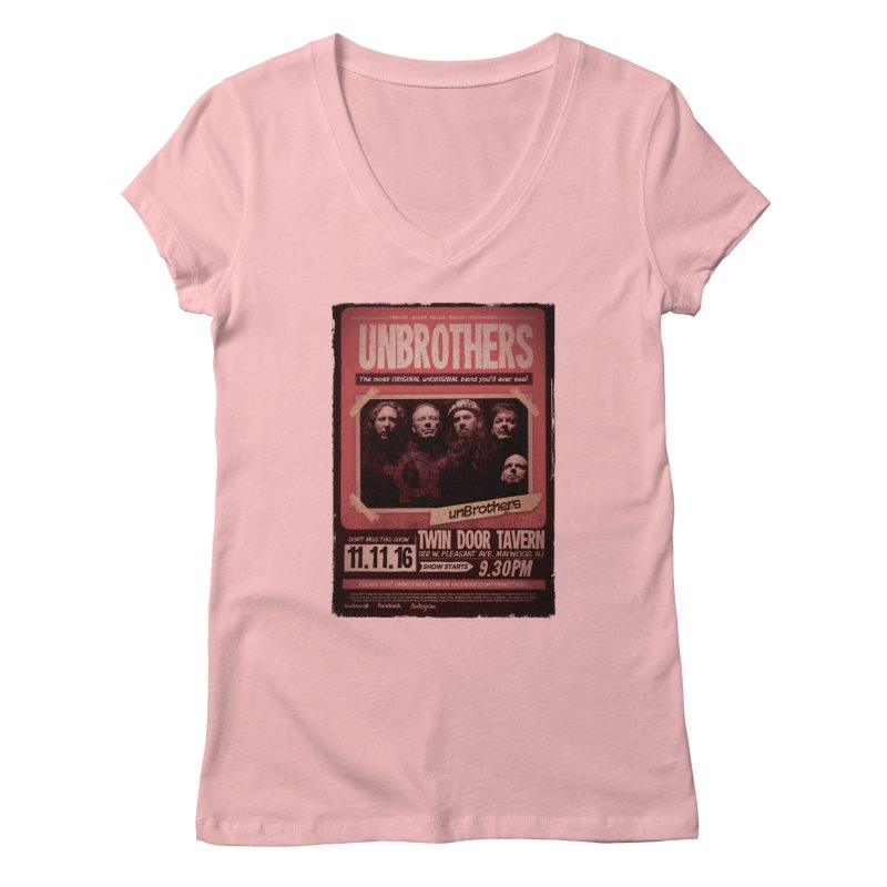 unBrothers Twin Door Tavern Concert Shirt Women's Regular V-Neck by unStuff by unBrothers