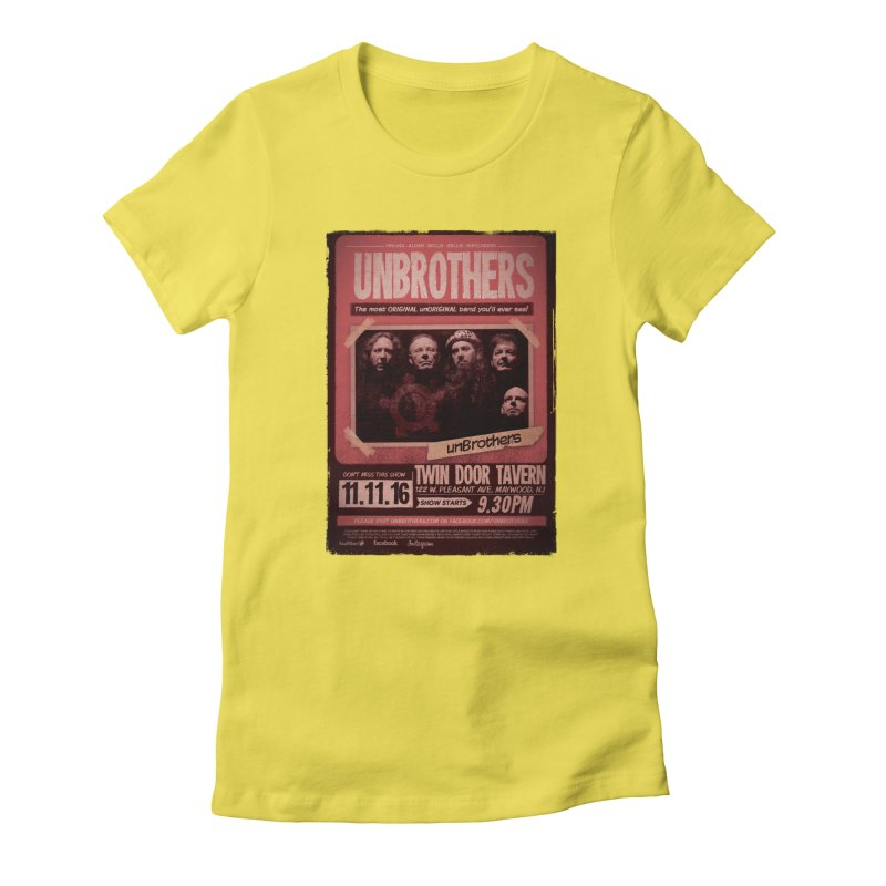 unBrothers Twin Door Tavern Concert Shirt Women's Fitted T-Shirt by unStuff by unBrothers