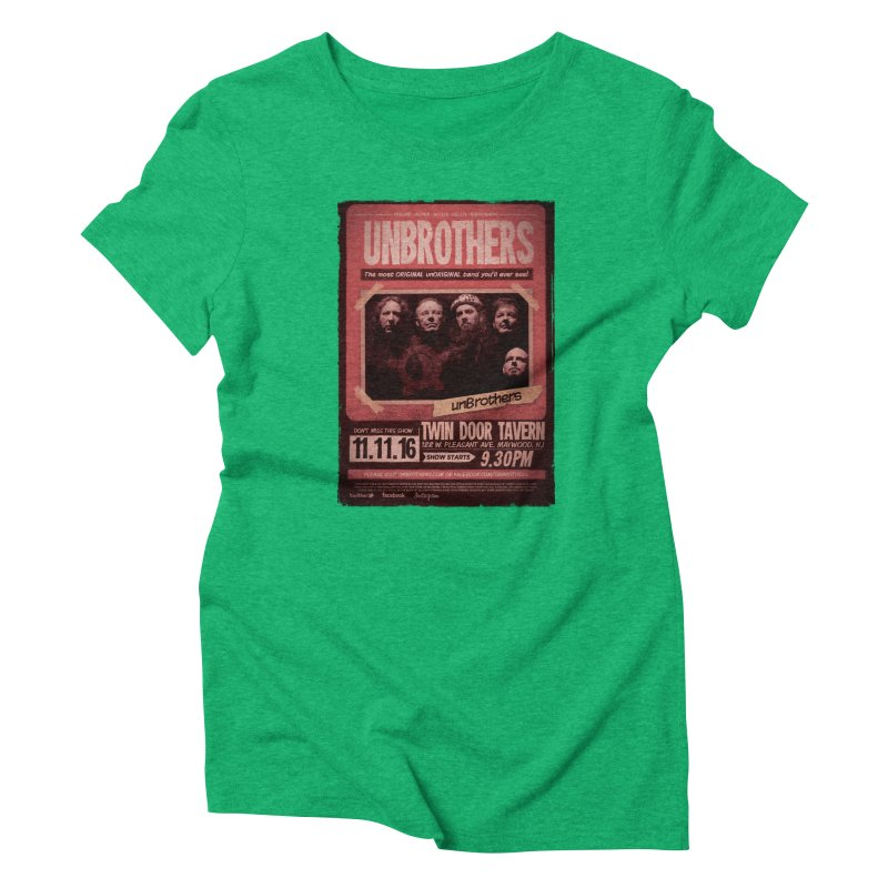 unBrothers Twin Door Tavern Concert Shirt Women's Triblend T-Shirt by unStuff by unBrothers