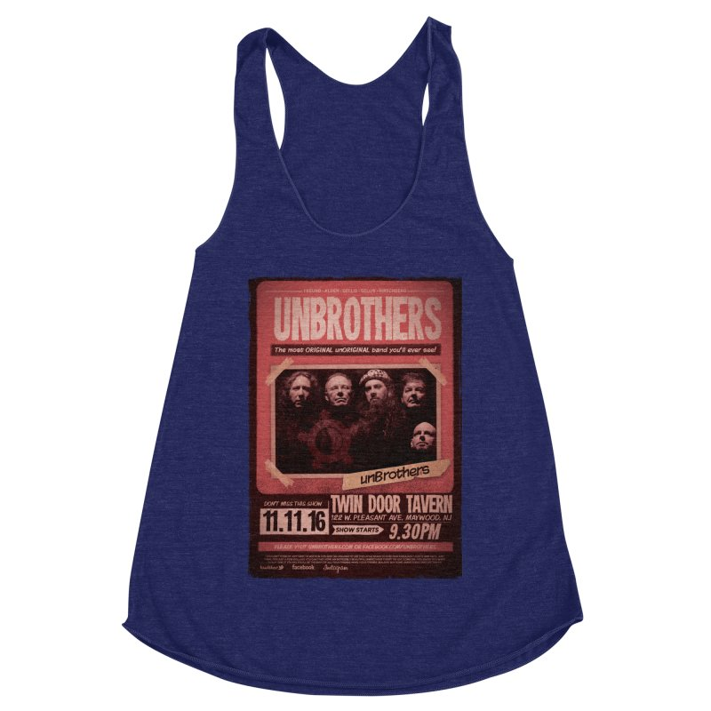 unBrothers Twin Door Tavern Concert Shirt Women's Racerback Triblend Tank by unStuff by unBrothers