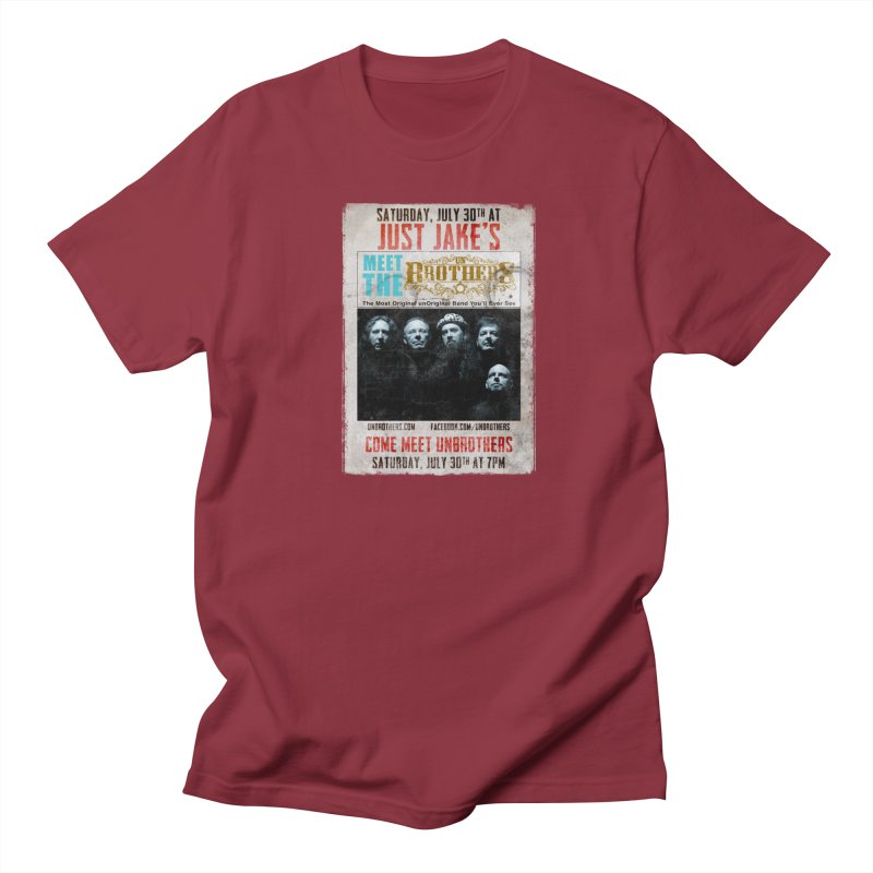 unBrothers Just Jake's Concert Shirt in Men's Regular T-Shirt Scarlet Red by unStuff by unBrothers