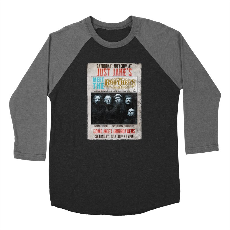 unBrothers Just Jake's Concert Shirt Men's Baseball Triblend Longsleeve T-Shirt by unStuff by unBrothers