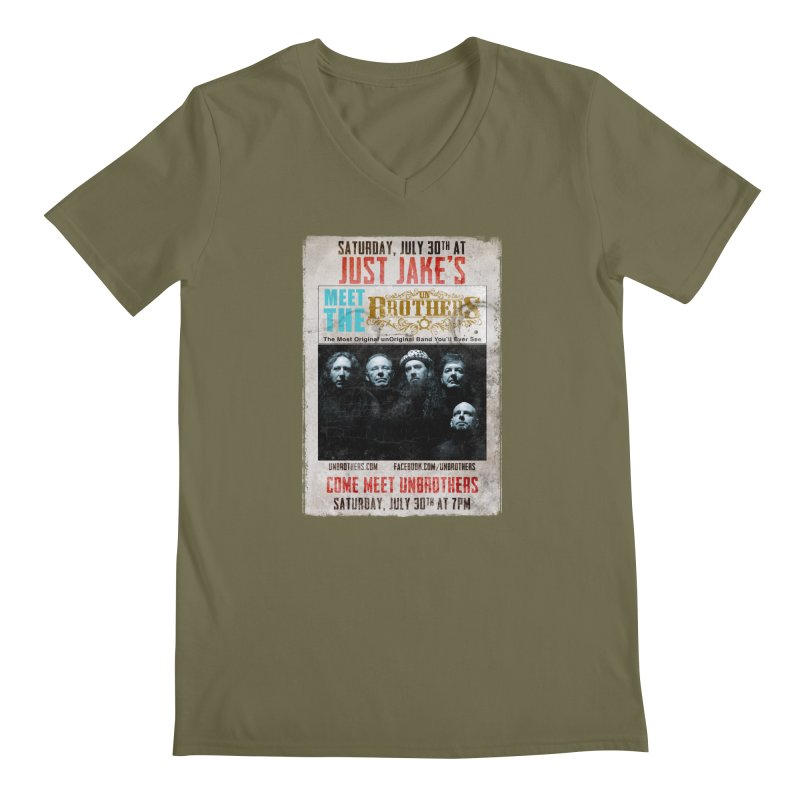 unBrothers Just Jake's Concert Shirt Men's Regular V-Neck by unStuff by unBrothers