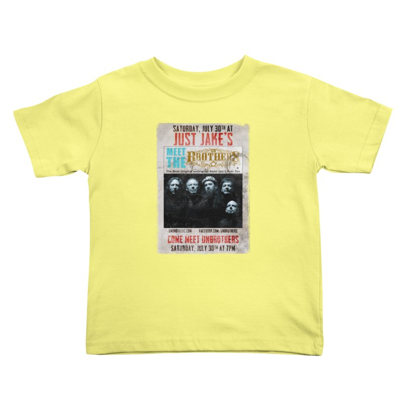 unBrothers Just Jake's Concert Shirt Kids Toddler T-Shirt by unStuff by unBrothers