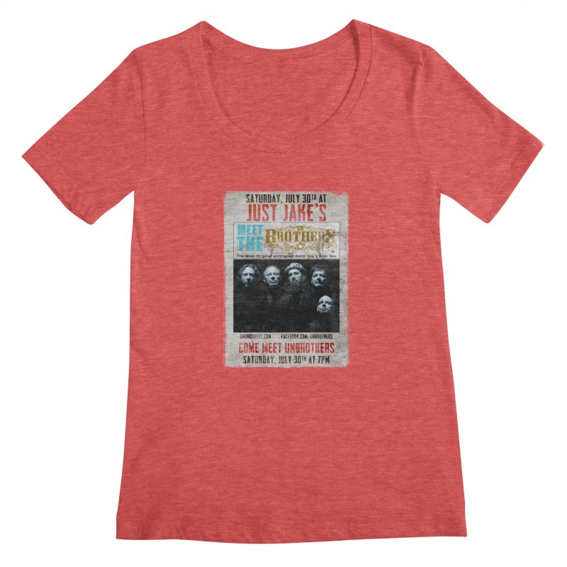 unBrothers Just Jake's Concert Shirt Women's Regular Scoop Neck by unStuff by unBrothers