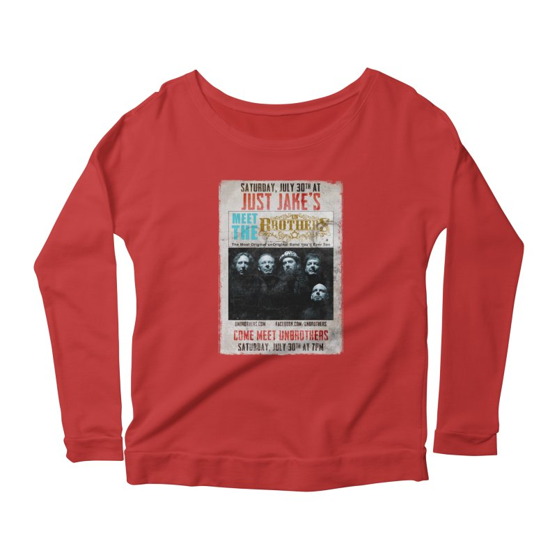 unBrothers Just Jake's Concert Shirt Women's Scoop Neck Longsleeve T-Shirt by unStuff by unBrothers