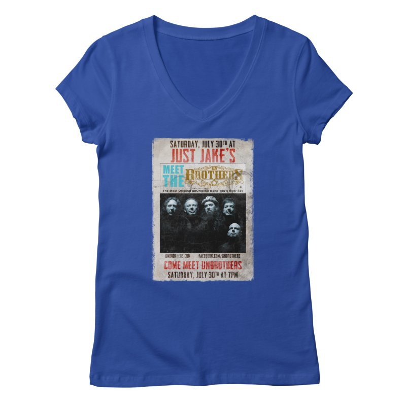 unBrothers Just Jake's Concert Shirt Women's V-Neck by unStuff by unBrothers