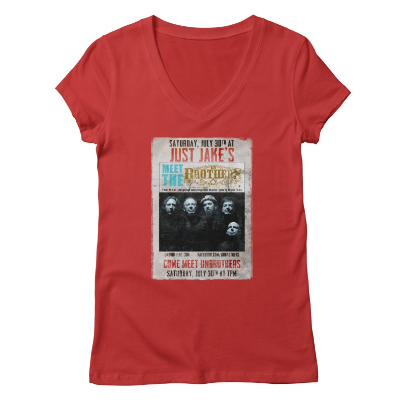 unBrothers Just Jake's Concert Shirt Women's Regular V-Neck by unStuff by unBrothers